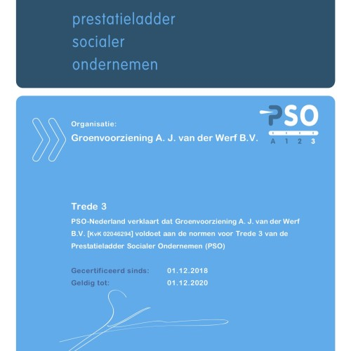 PSO Groenwerf Trede 3 tm 01-12-2020