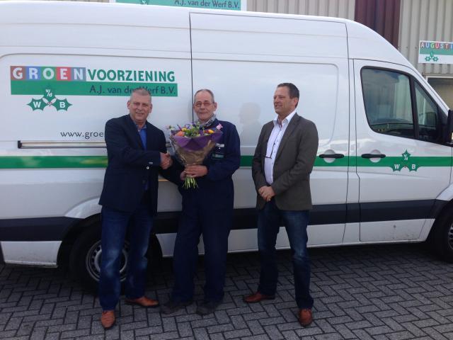 Jan Hoek 30 jaar in dienst